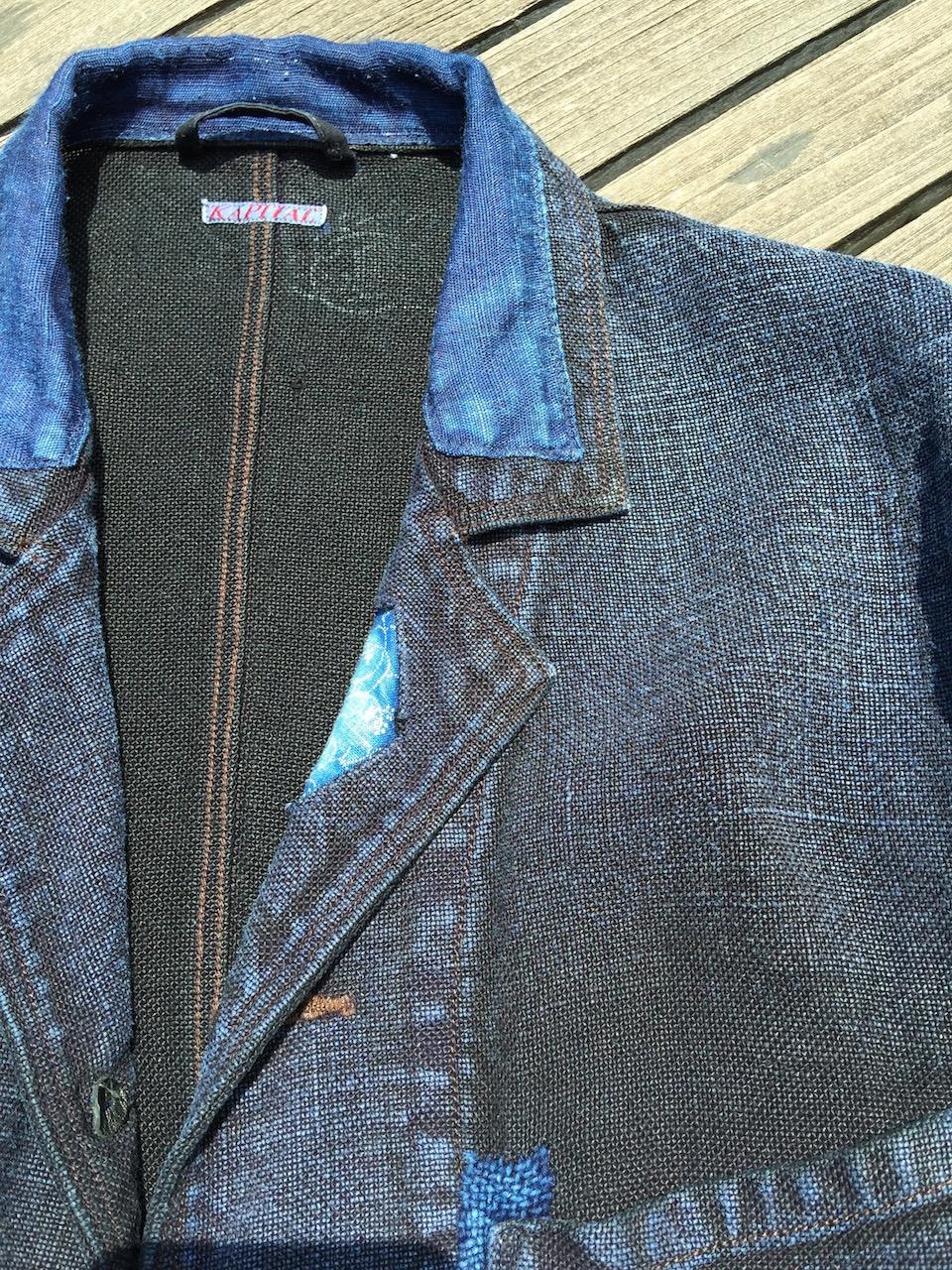 インディゴor藍で染められた麻のジャケット