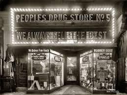 1920年代のドラッグストア
