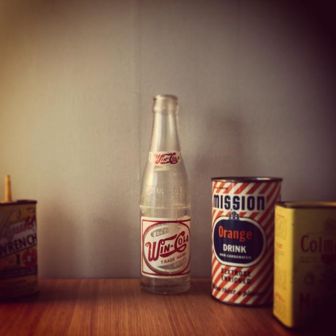 winコーラ。那覇で作られていたコーラのボトルだそうです。